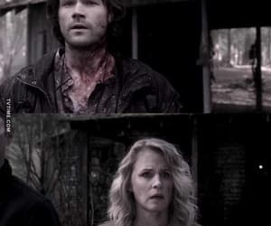 dean winchester, jack, and sam winchester image