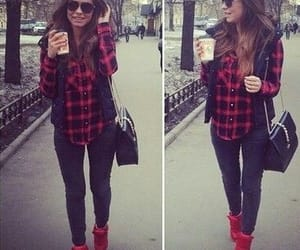 brunette, sunglasses, and Central Park image