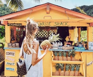 pineapple, beach, and style image