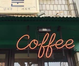 coffee, neon, and aesthetic image