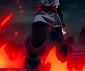 anime, dbs, and black goku image