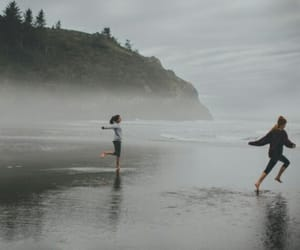 nature, sea, and friends image