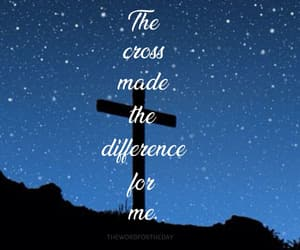 bible verse and cross of christ image