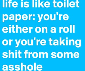 funny, quotes, and toilet paper image