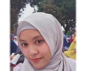 girl, hijab, and grey image