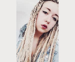 blonde, braids, and pale skin image