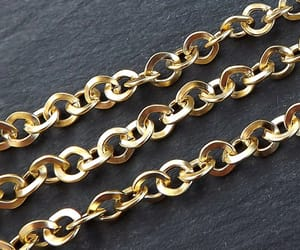 etsy, gold plated chain, and 1 meter image