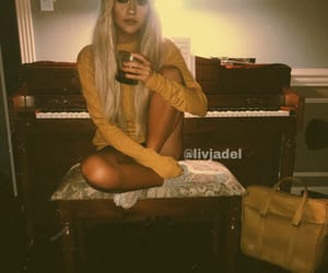 film, girl, and piano image