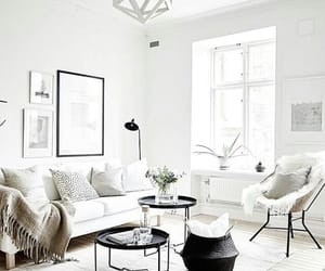 home, white, and living room image