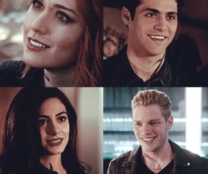 clary fray, alec lightwood, and isabelle lightwood image