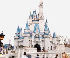 blue, castle, and disney image