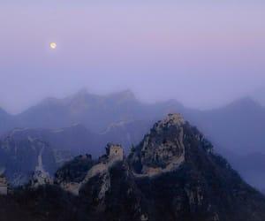 moon, china, and grunge image