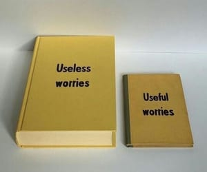 worry, book, and yellow image