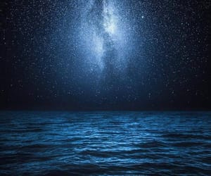stars, ocean, and galaxy image
