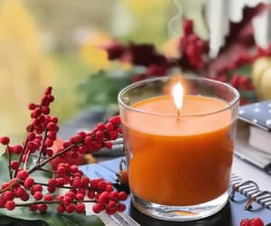 candles, gif, and fall image