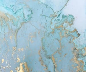 blue, wallpaper, and gold image