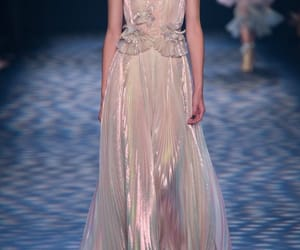 dress, runway, and Marchesa image