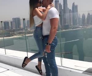 boyfriend, couple, and kiss image