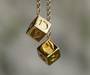 cubes, dice, and golden image