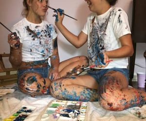 friends, paint, and bff image