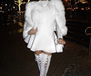 boots, fashion, and fur coat image