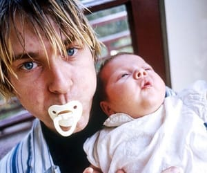 kurt cobain, frances bean cobain, and nirvana image