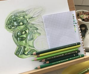 art, green, and shiny image