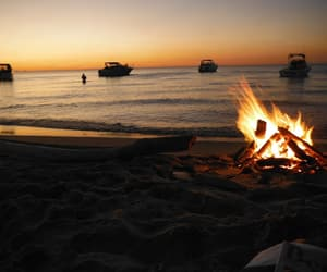 night, fire, and summer image