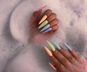 claws, nails, and rainbow image