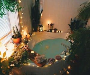 home, bath, and plants image
