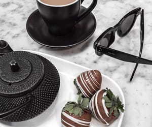 chocolate, coffee, and strawberry image