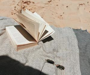 book, beach, and summer image