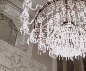 chandelier, luxury, and theme image