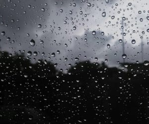 Darkness, rain, and drops image