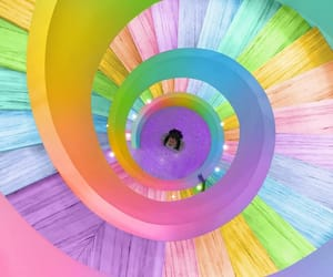 colorful, colors, and spiral image