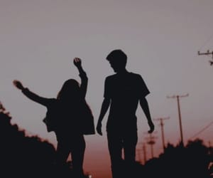 free, silhouette, and sunset image