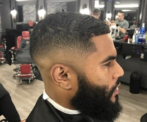 barber, fade, and hair image