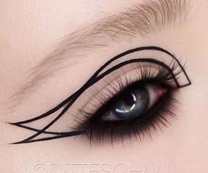 eye makeup, makeup art, and eyes image