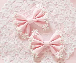 pink, bow, and girly image