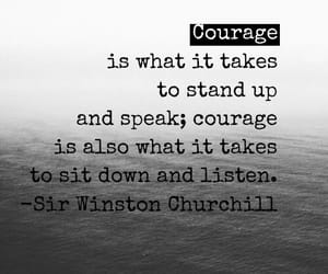 alone, courage, and courageous image
