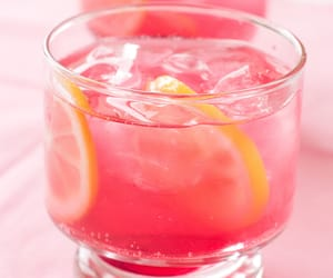 pink, drink, and lemon image