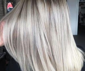 hair, hairstyle, and platinum blonde image