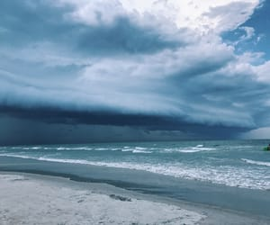 florida, ocean, and storm image