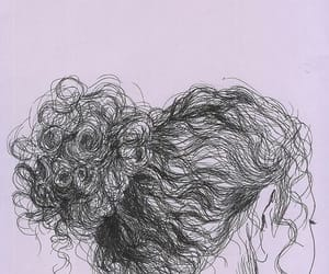 curly, draw, and curly hair image