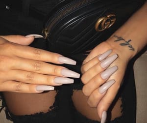 nails, tattoo, and gucci image