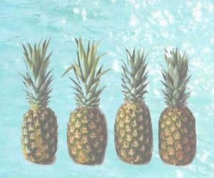 pineapple, water, and sea image