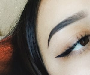 eyeliner and brows image