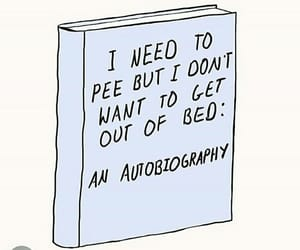 bed, book, and funny image