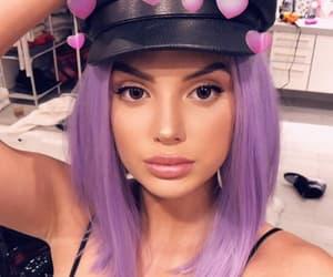 beauty, girl, and purple image