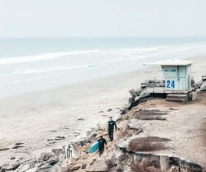 beach, california, and coast image